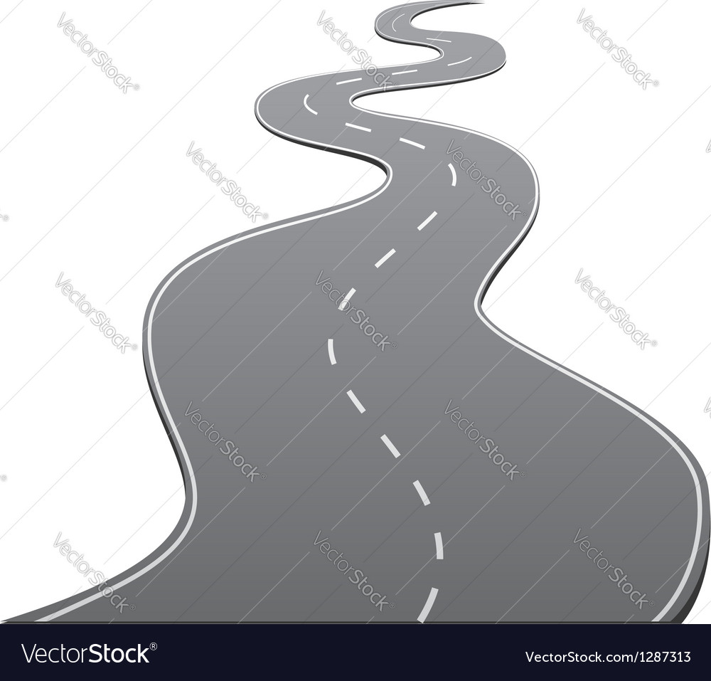 Twisty road vector