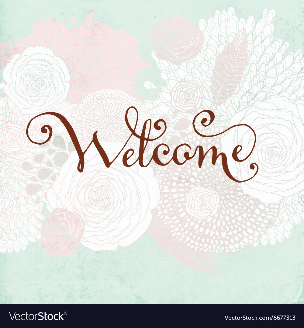 Welcome card vector