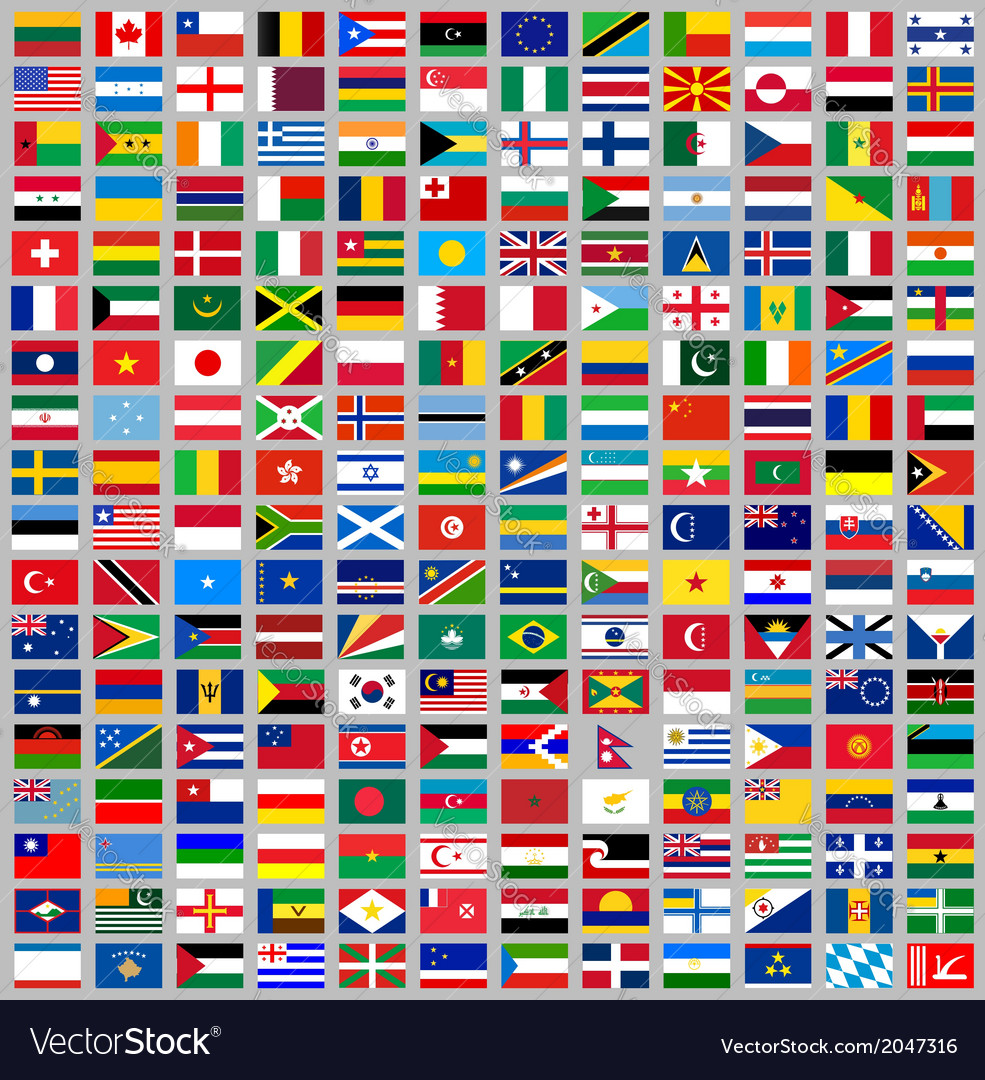 216 flags all world vector