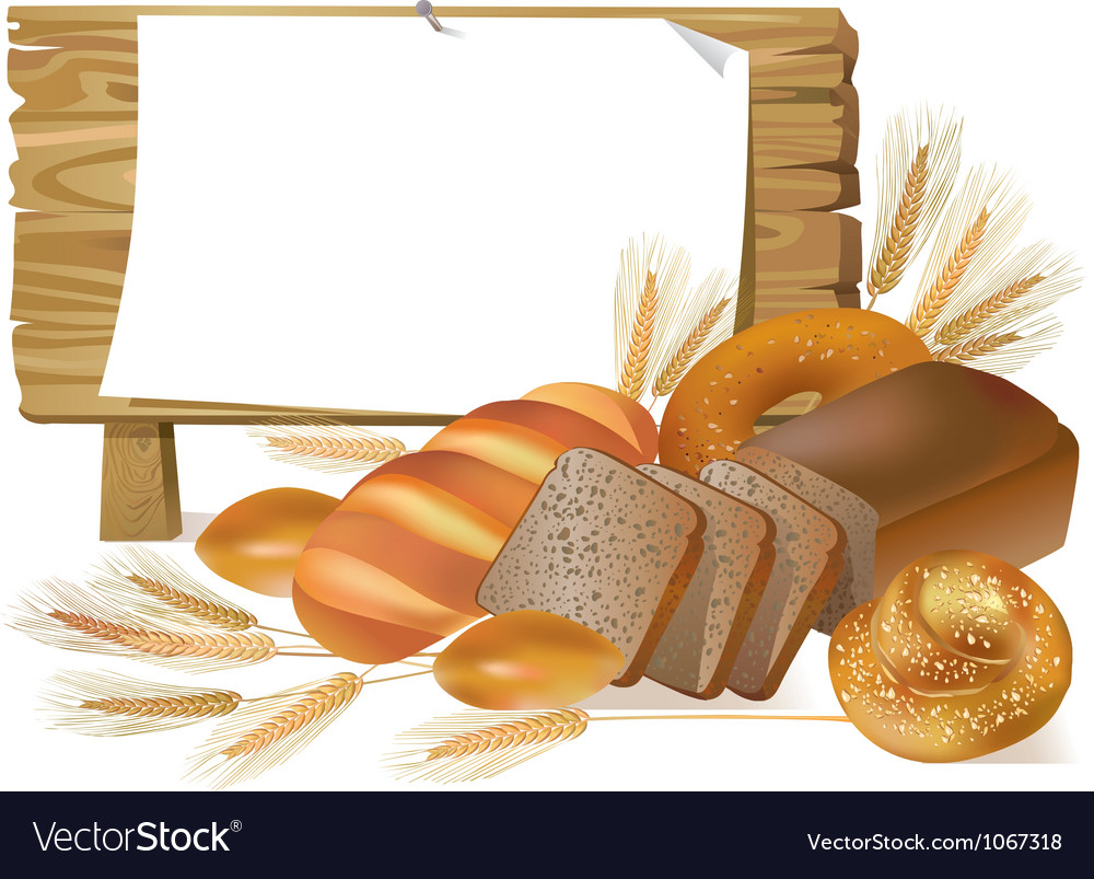 Pastries wooden board sign vector