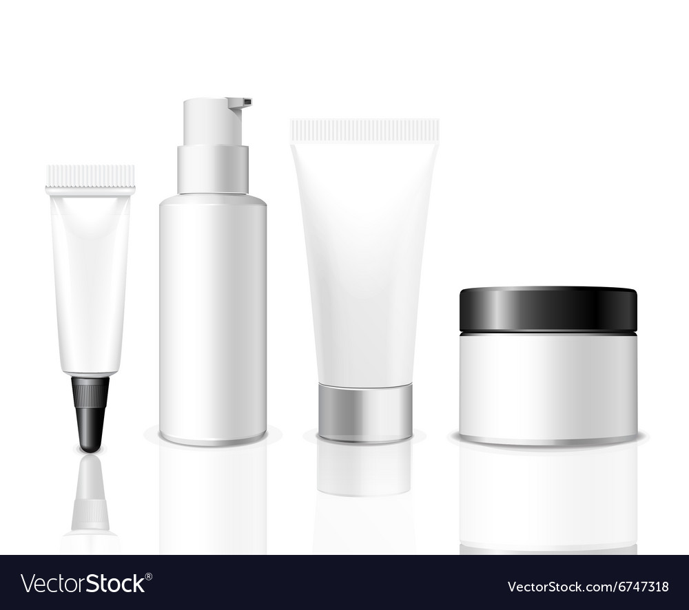 Realistic packaging template vector