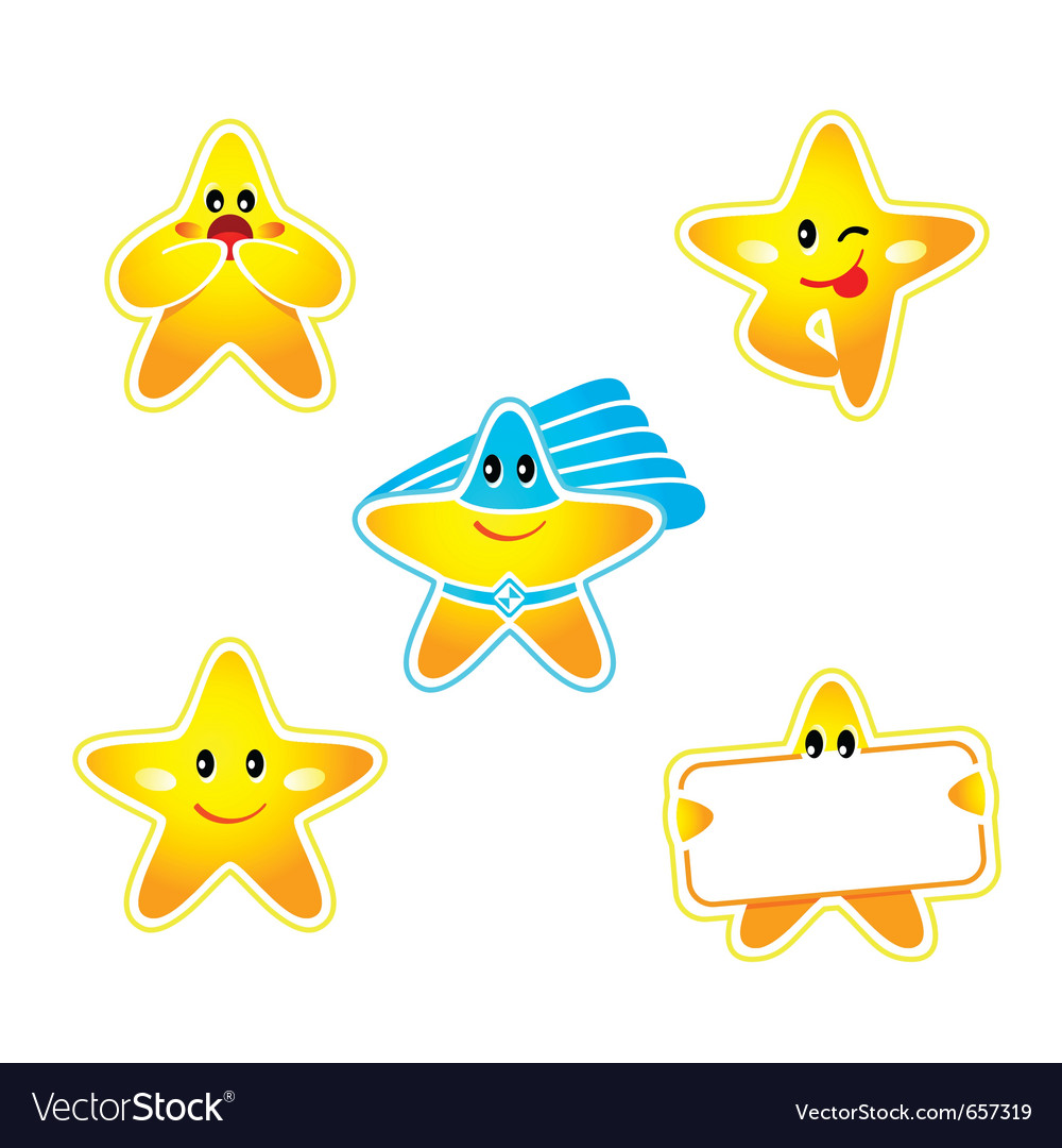 Star stickers vector