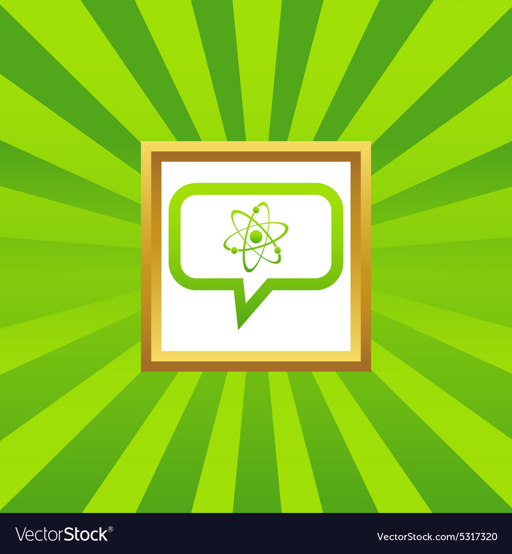Atom message picture icon vector