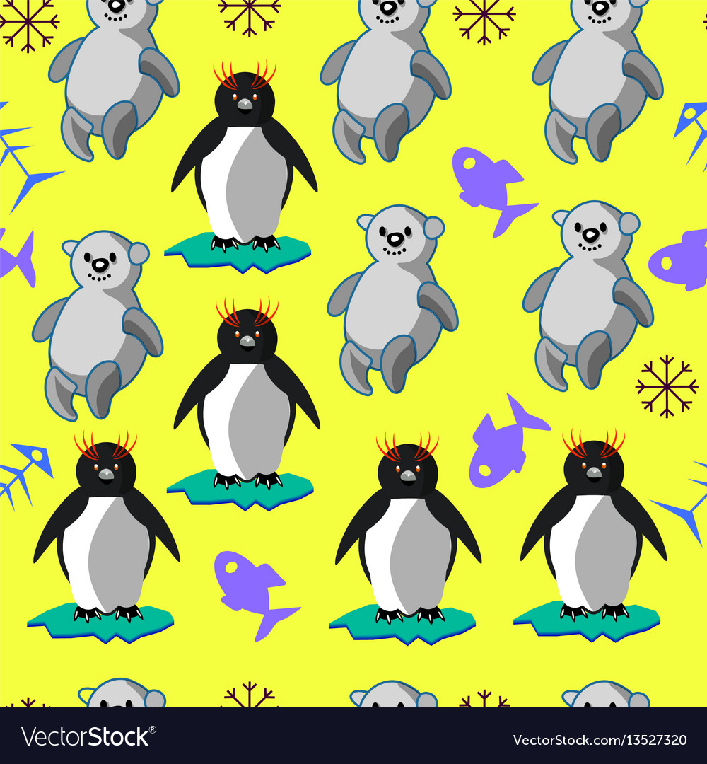 Bears and penguins vector