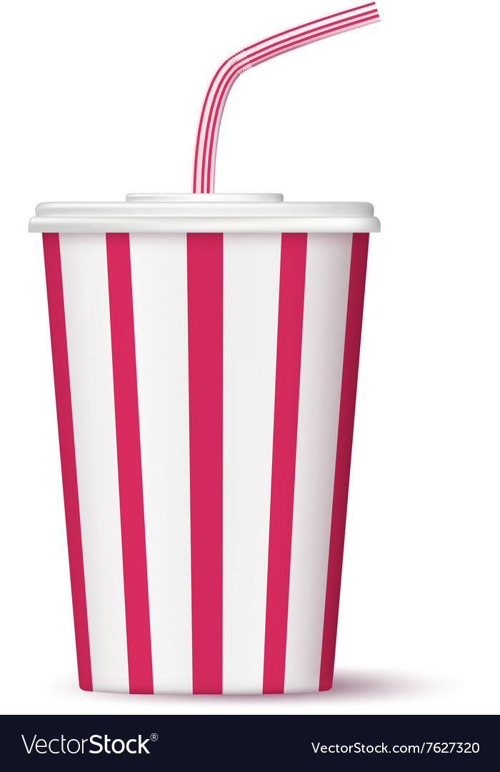 Fast food paper cup of drink vector