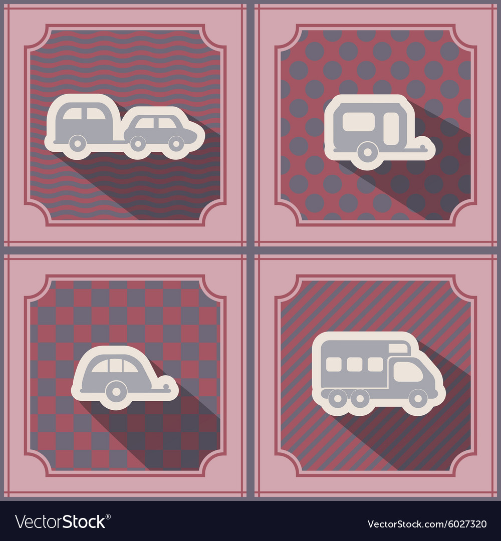 Seamless background with trailers vector