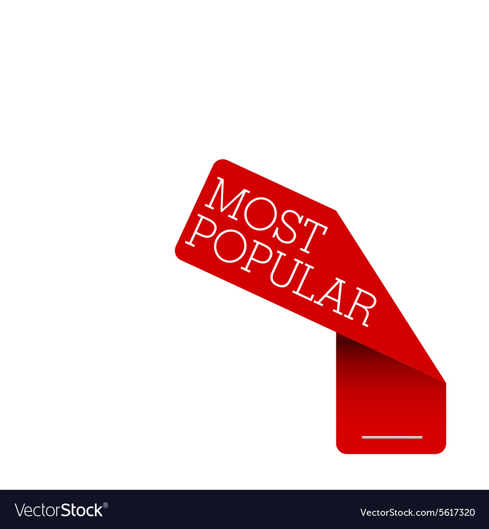 Tag label most popular red vector