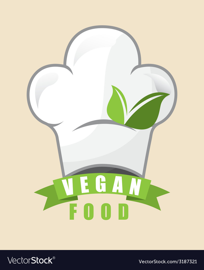 Vegan food design vector
