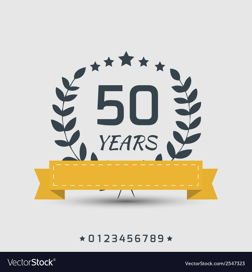 Anniversary sign vector