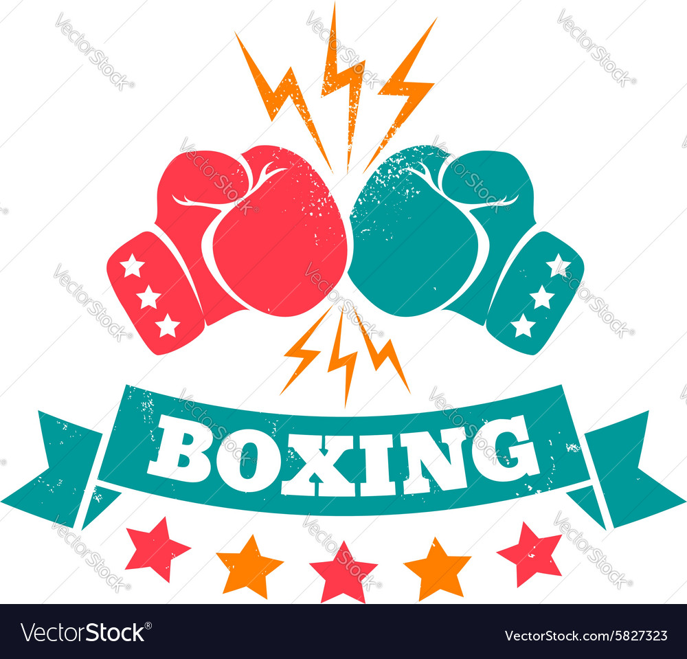 Boxing retro vector
