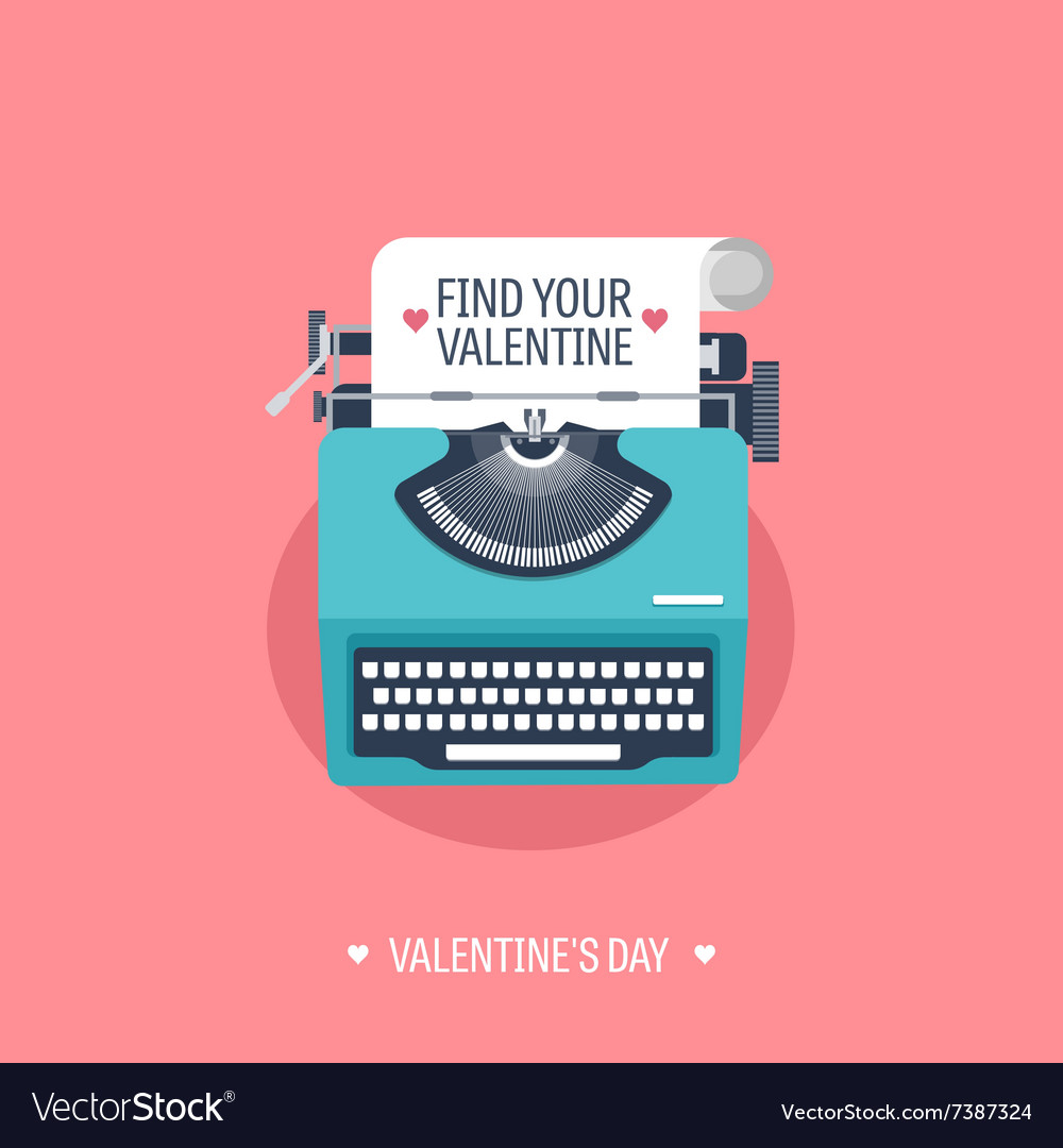 Flat background with vector
