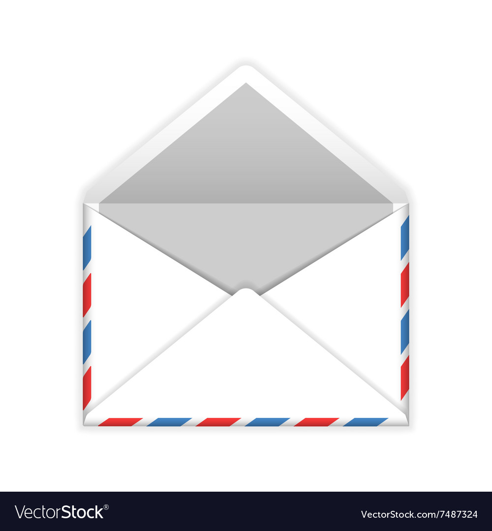 Open envelope mail flat icon vector