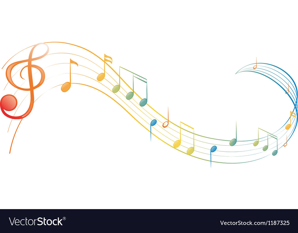 A music note vector