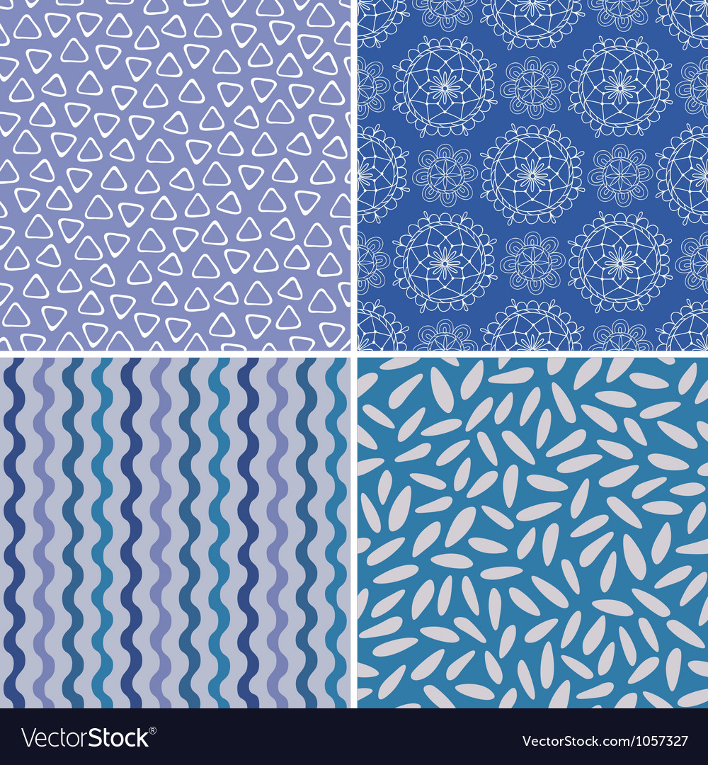 Set of seamless abstract and christmas patterns vector