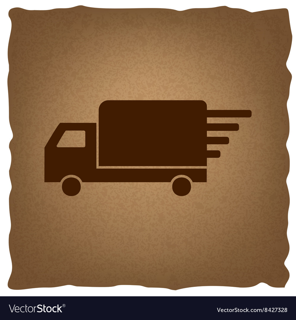 Delivery sign vintage effect vector