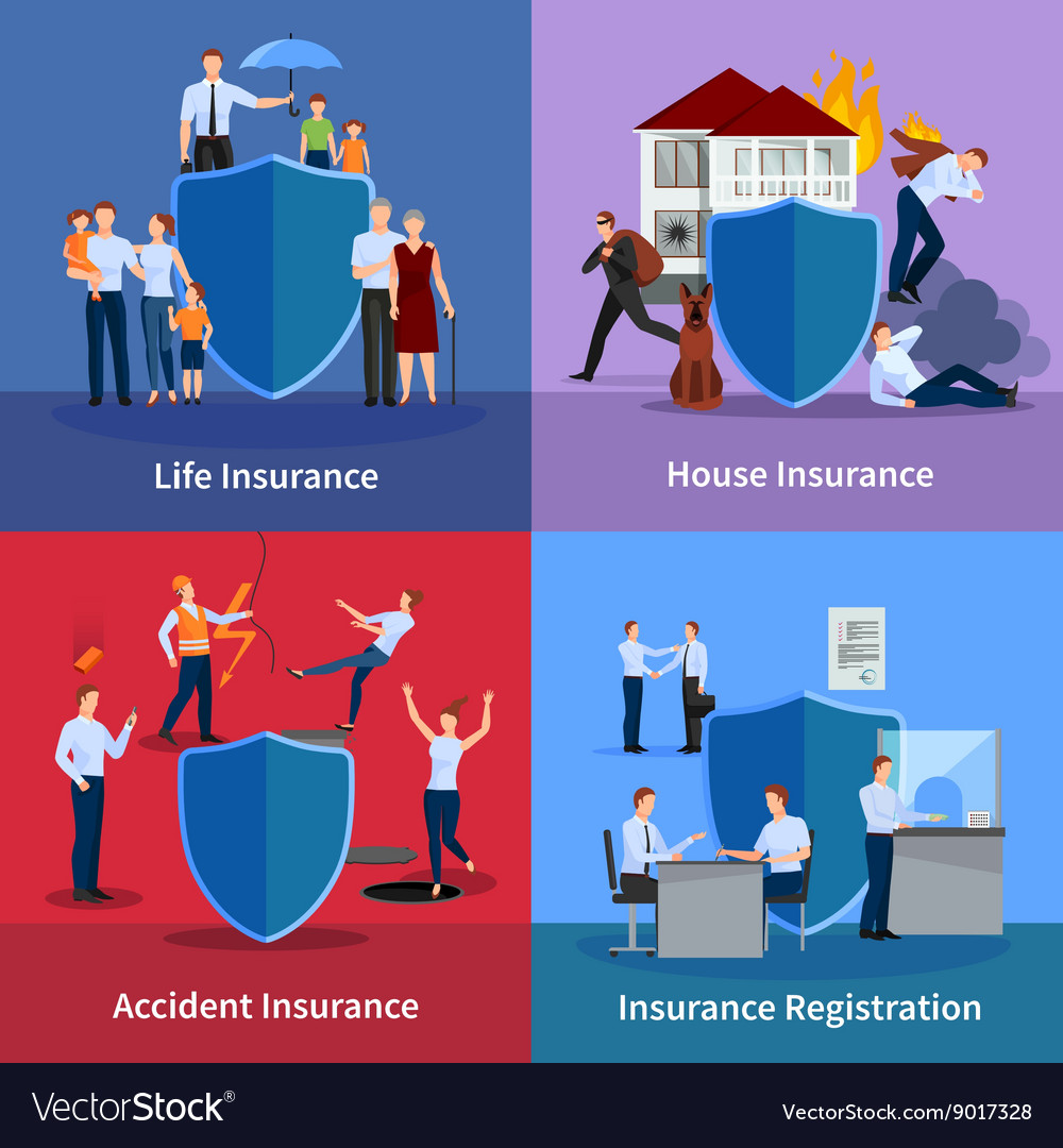 Personal and property insurance vector