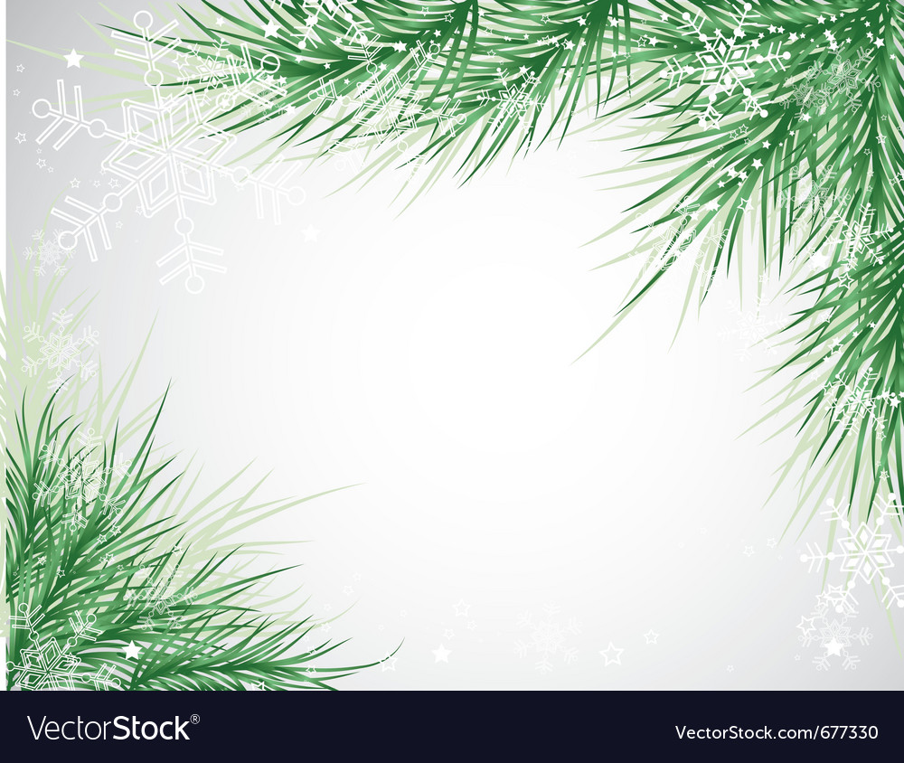 Christmas tree background snowflake vector