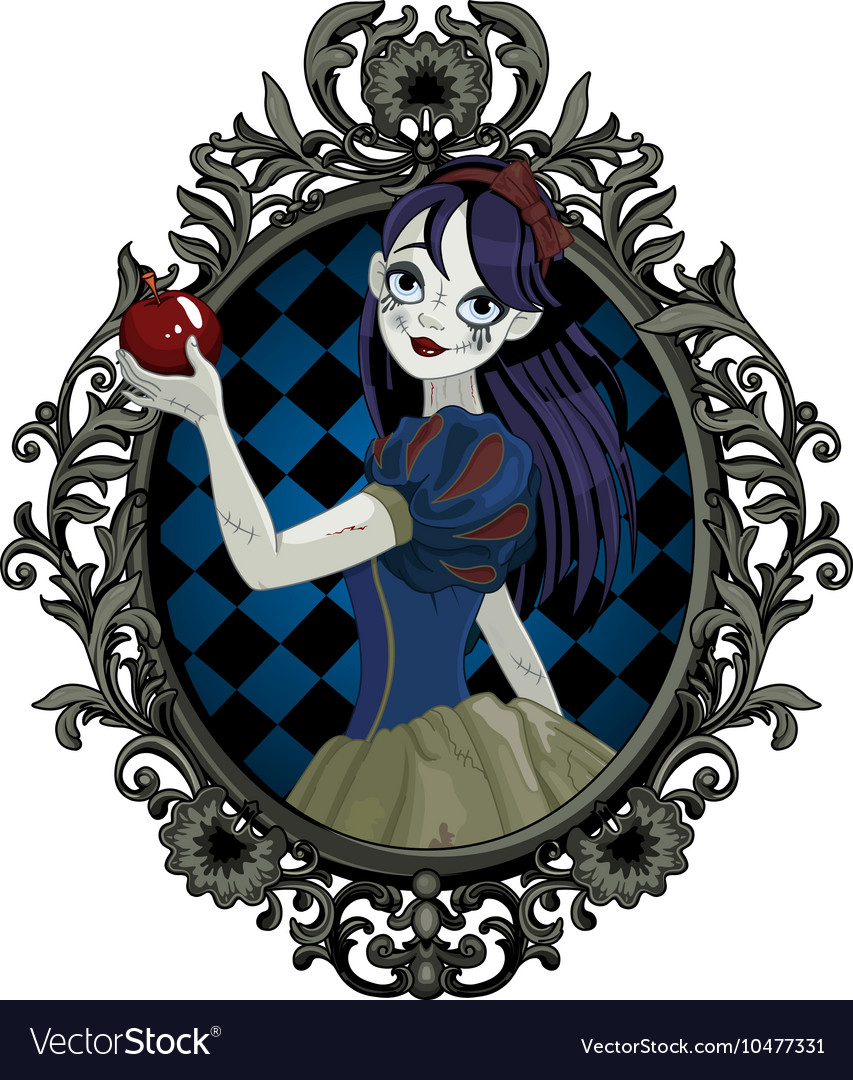 Halloween snow white vector