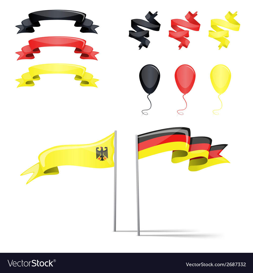 Flags germany set vector