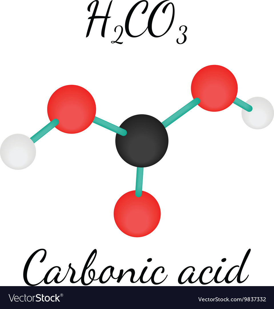 H2co3 carbonic acid molecule vector