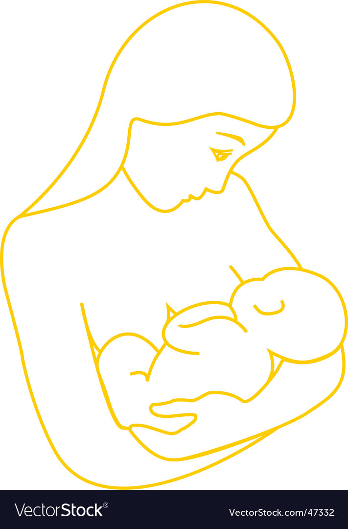 Mother breastfeeding baby vector