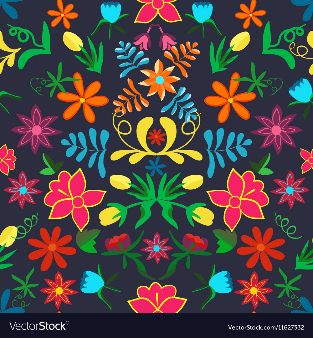 Seamless floral backgroundcolorful flowers and vector