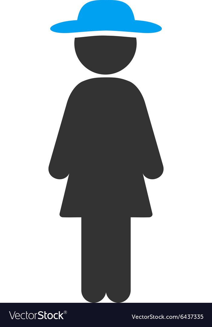 Standing lady icon vector