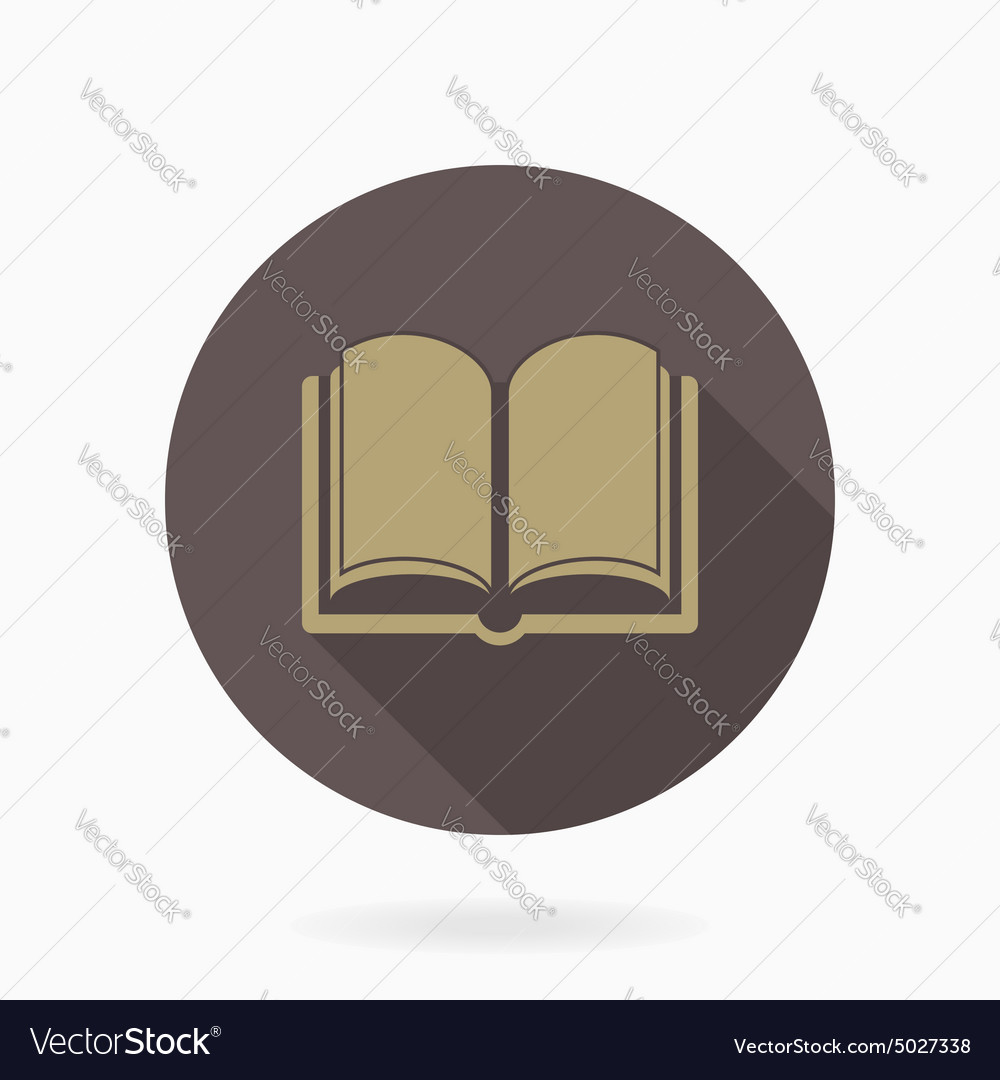 Fine book icon with flat design vector