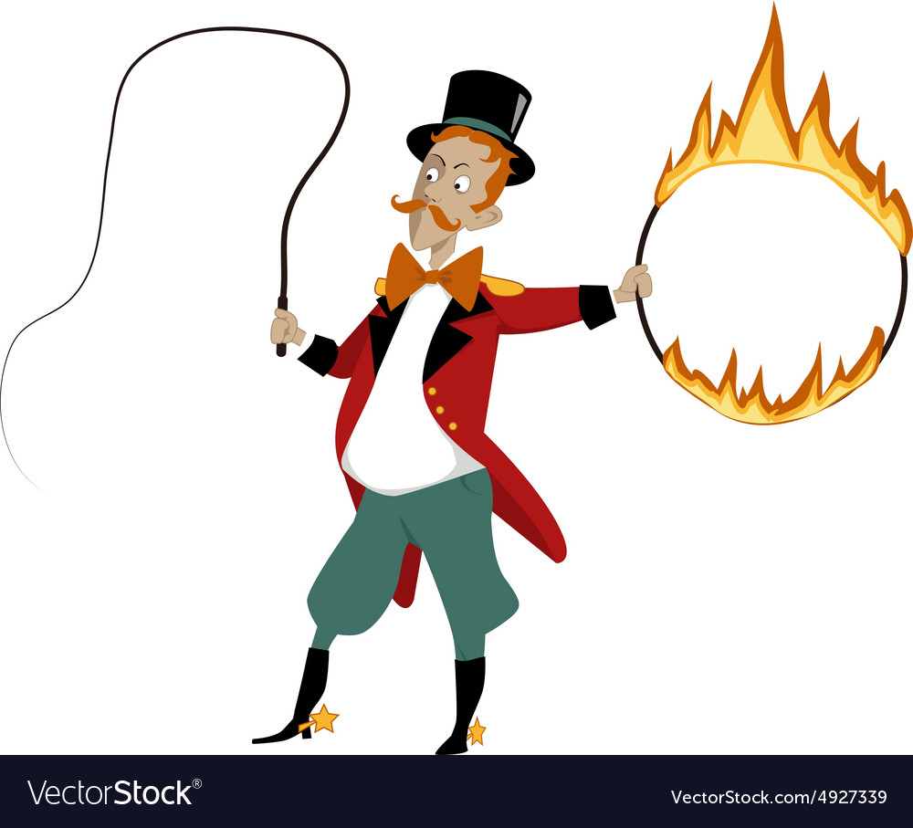 Cartoon lion tamer vector