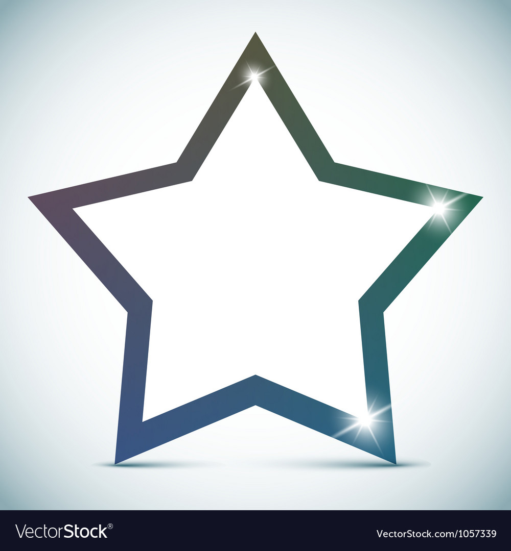 Star banner  empty text frame vector