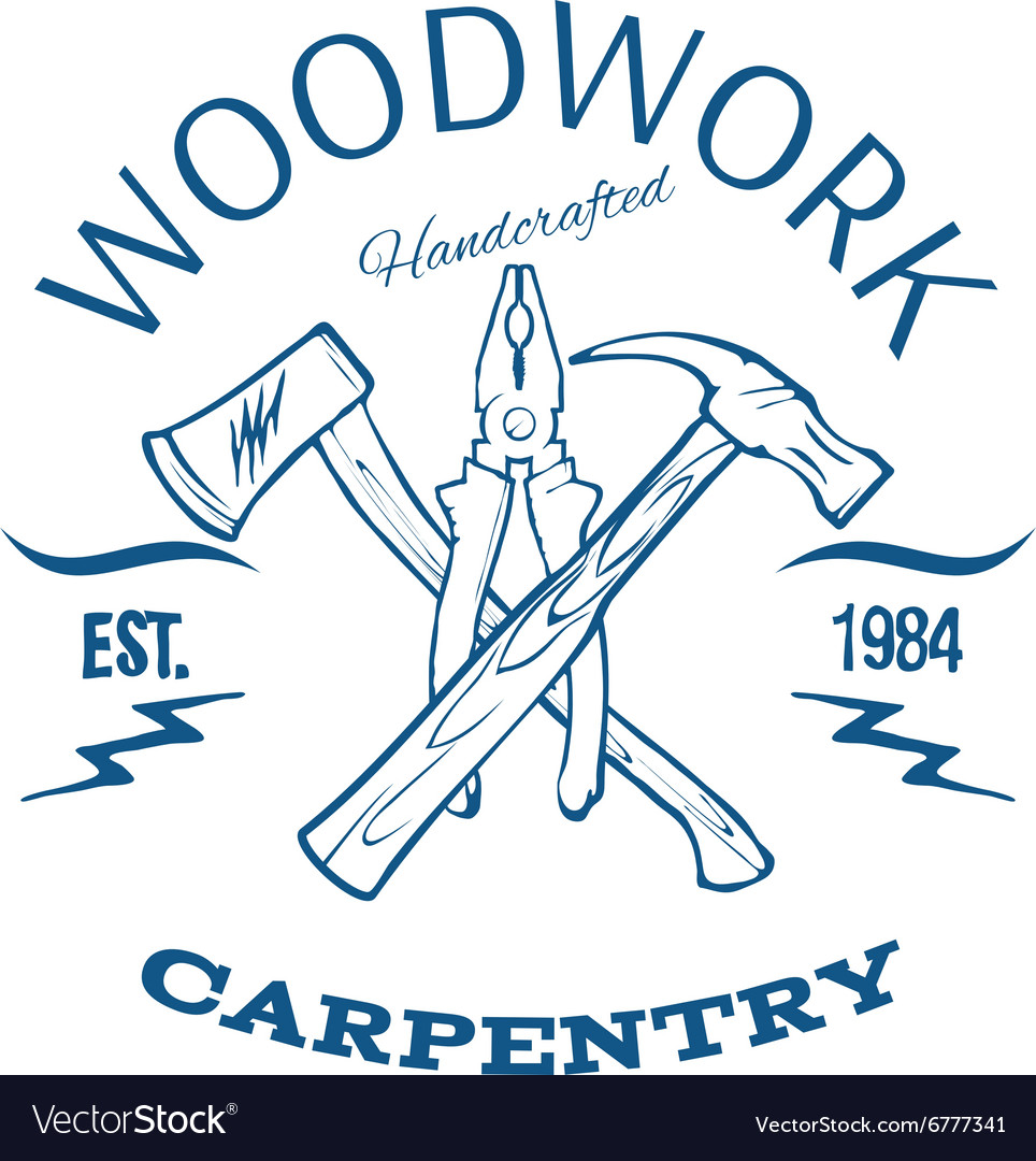 Woodwork and carpentry design tshirt print vector