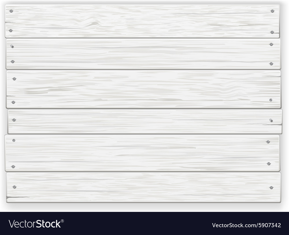 White wooden sign vector