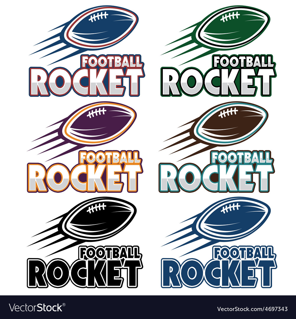 Football rocket set vector