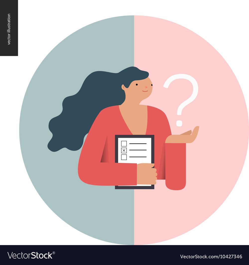 Survey icon in a circle vector