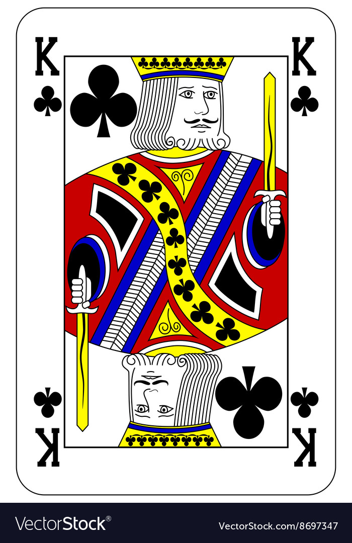 Poker playing card king club vector