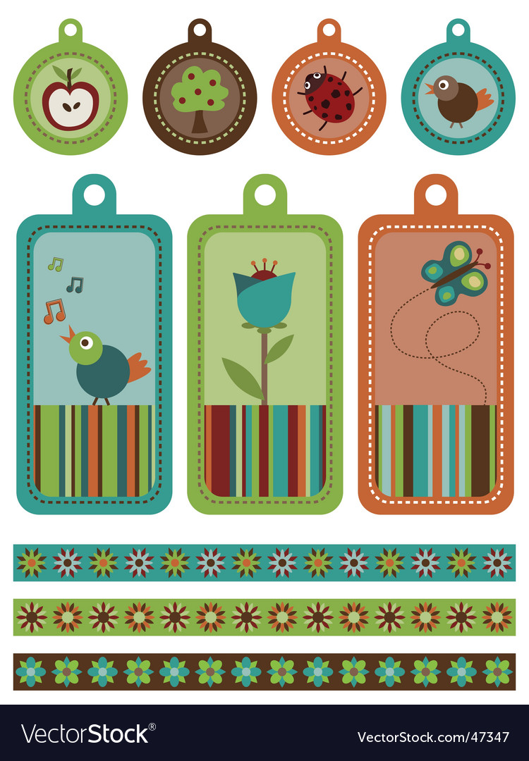 Tags and borders vector