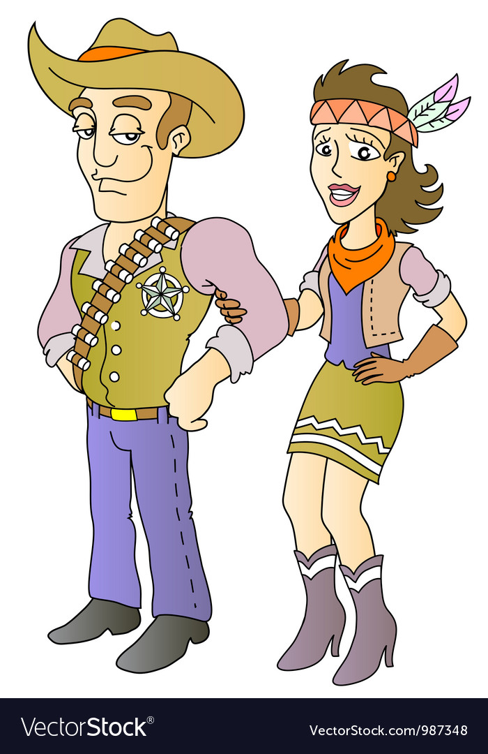 Sheriff and beauty vector