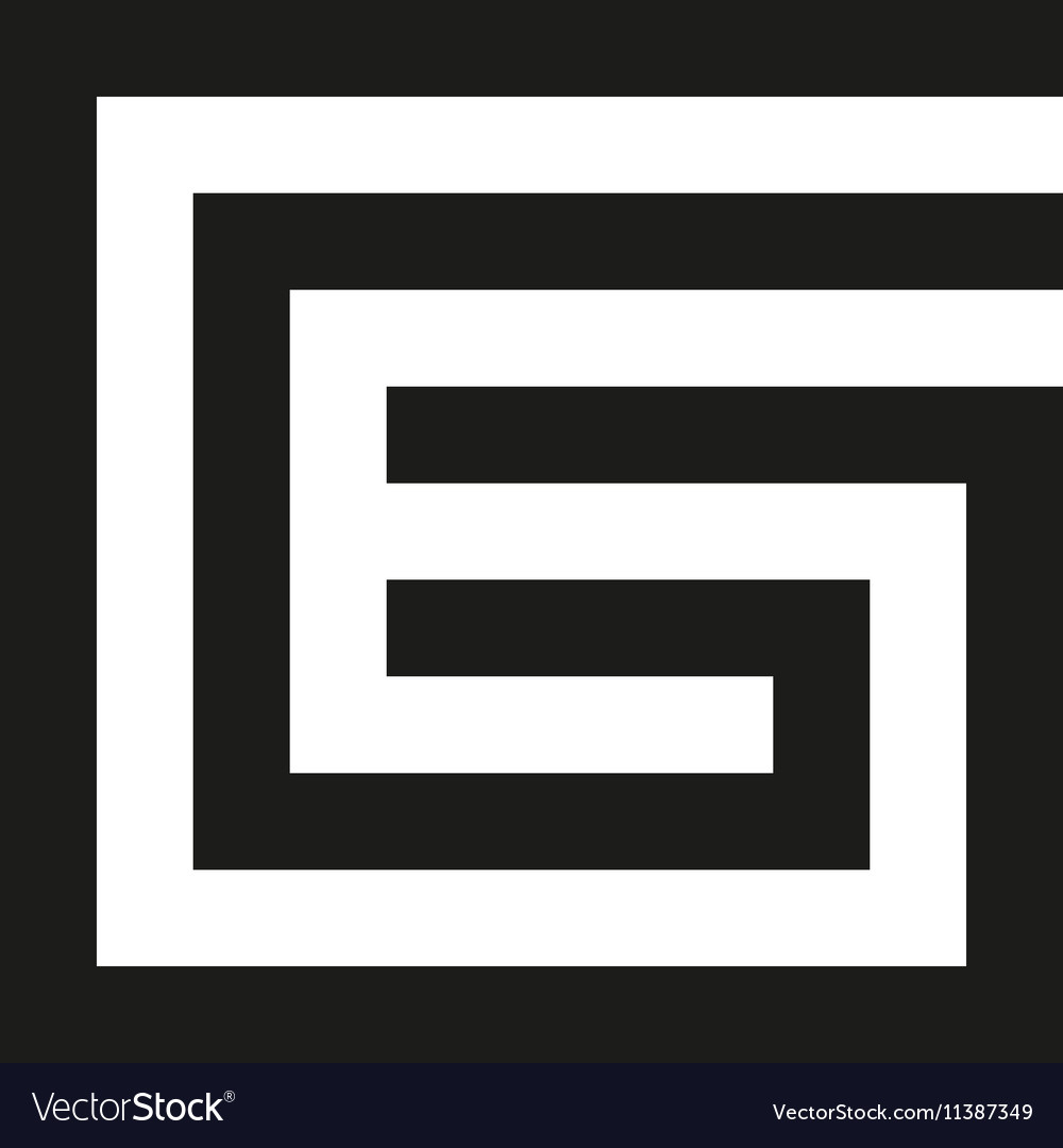 Unusual geometric letter g architecture vector