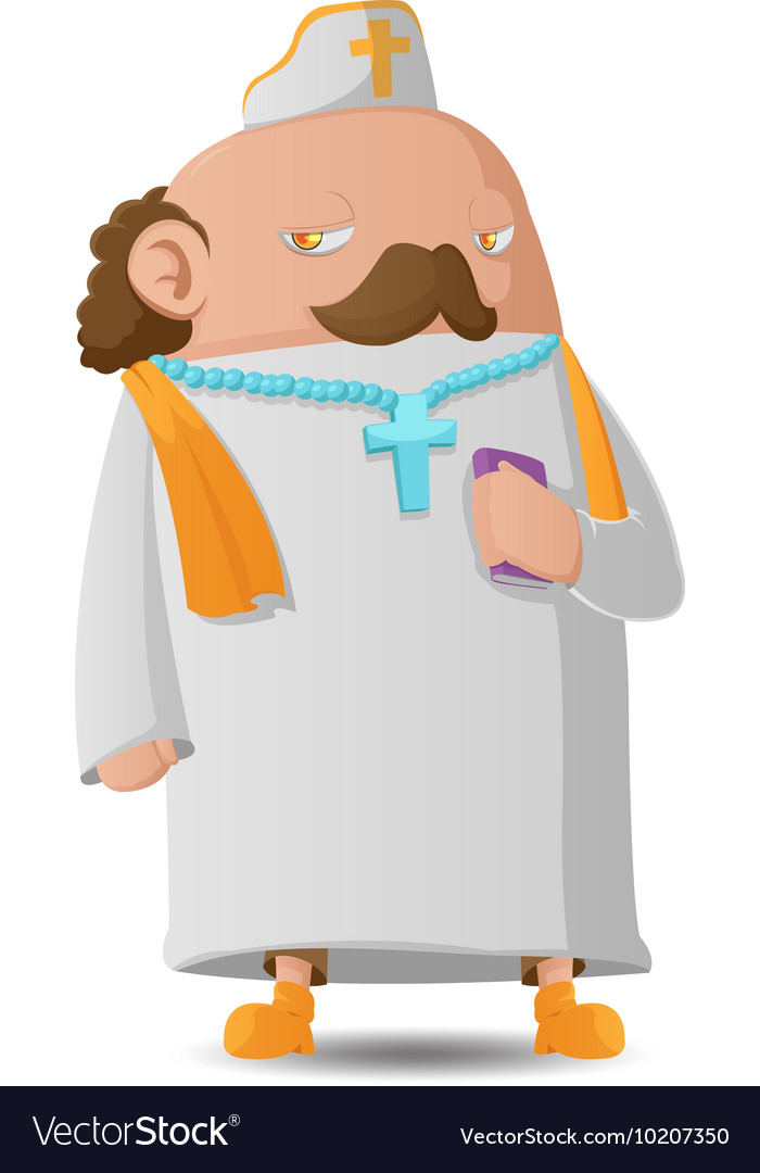 Pastor man character cartoon design vector