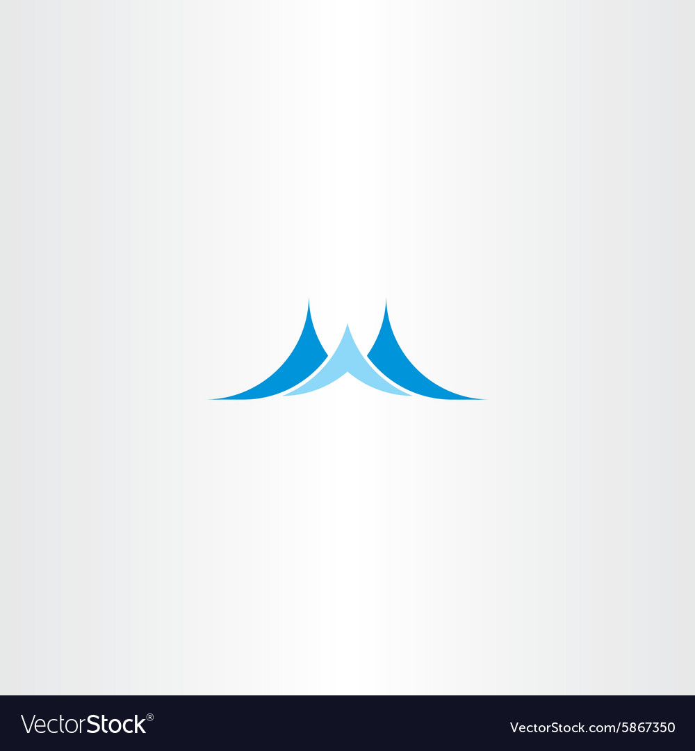 Wave blue water logo icon vector