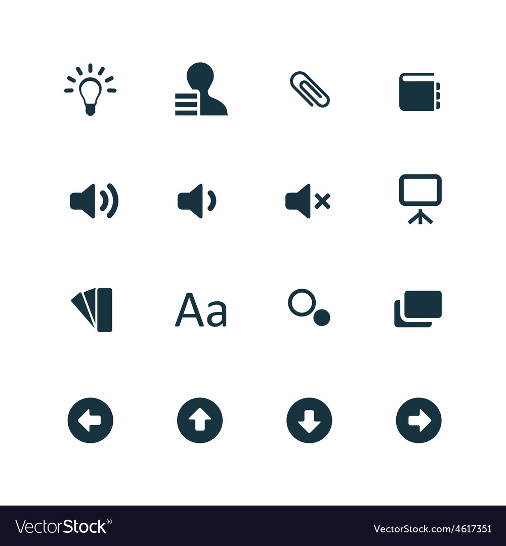 Set of app icons vector