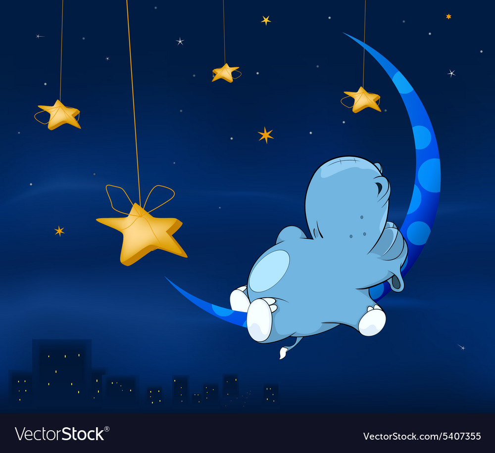 Fairy tale about hippo cartoon vector