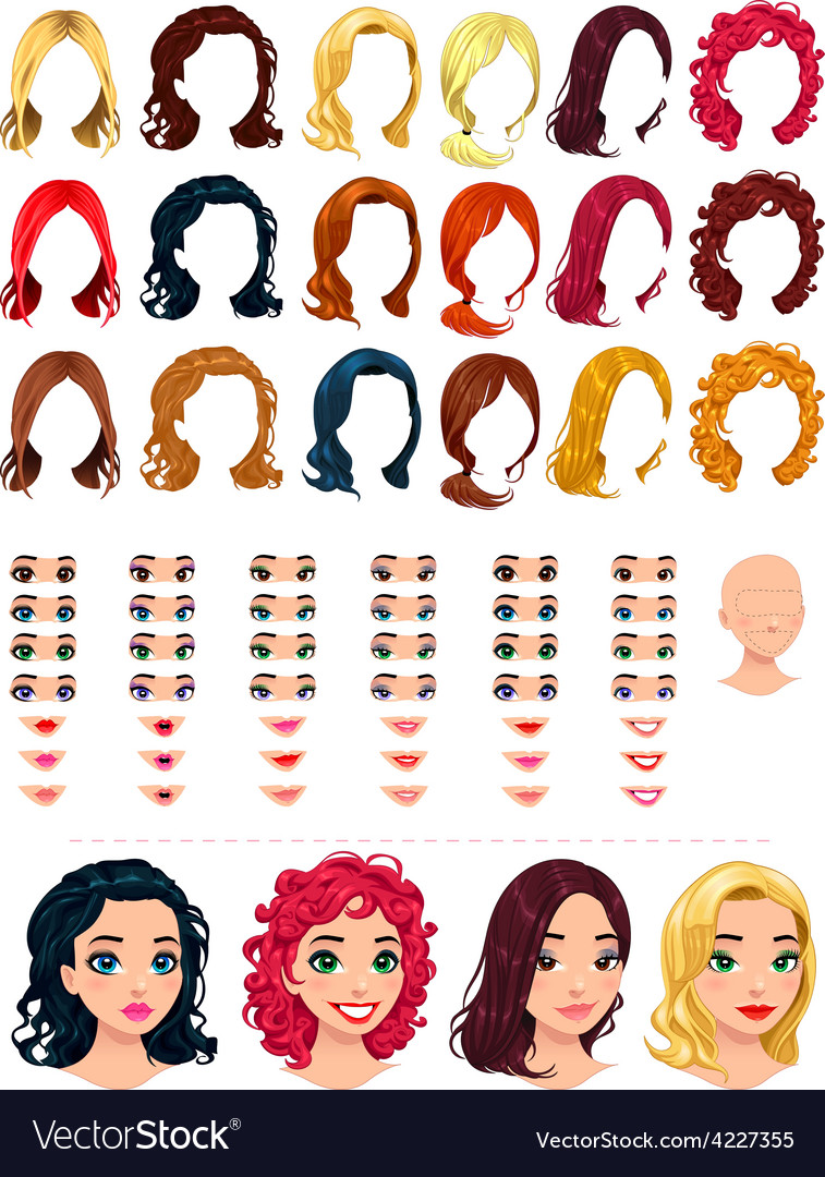 Fashion female avatars vector