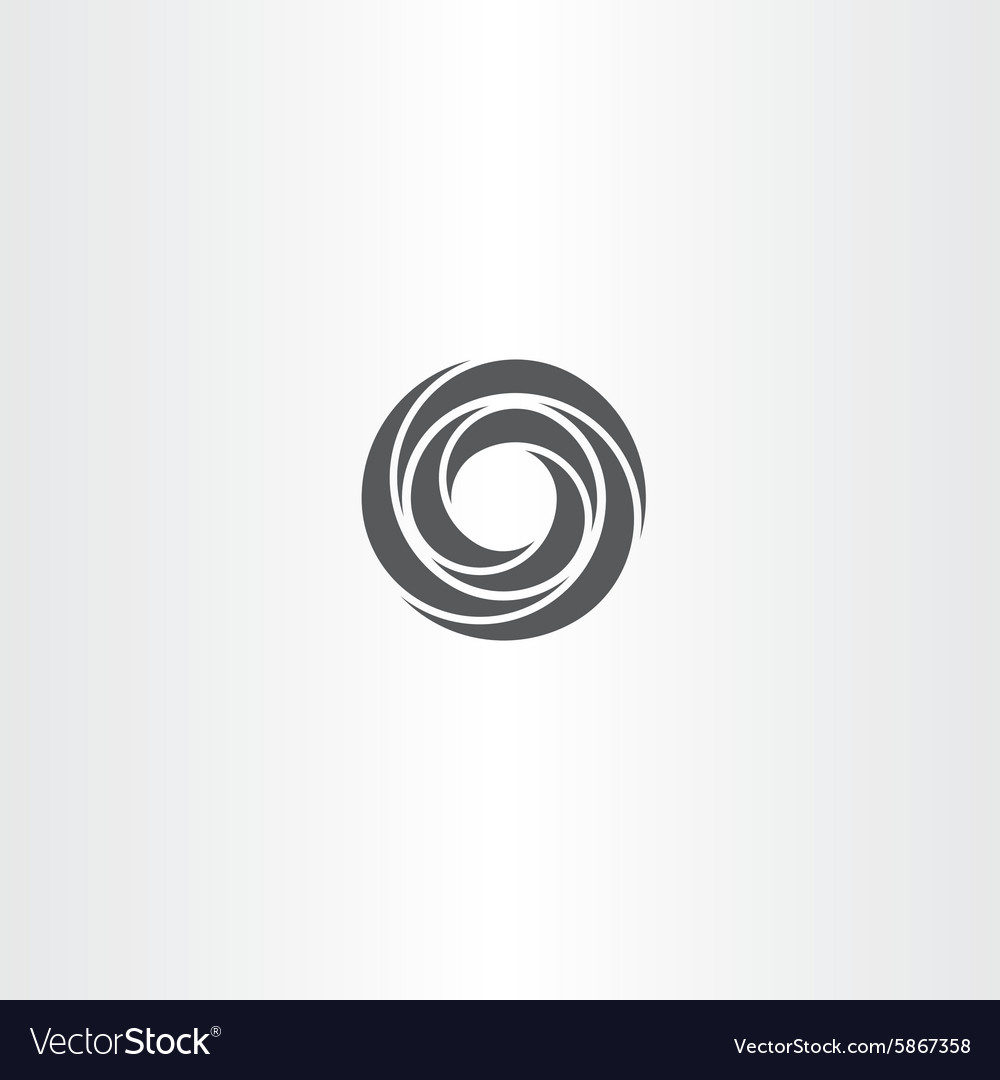 Black business circle logo element sign vector