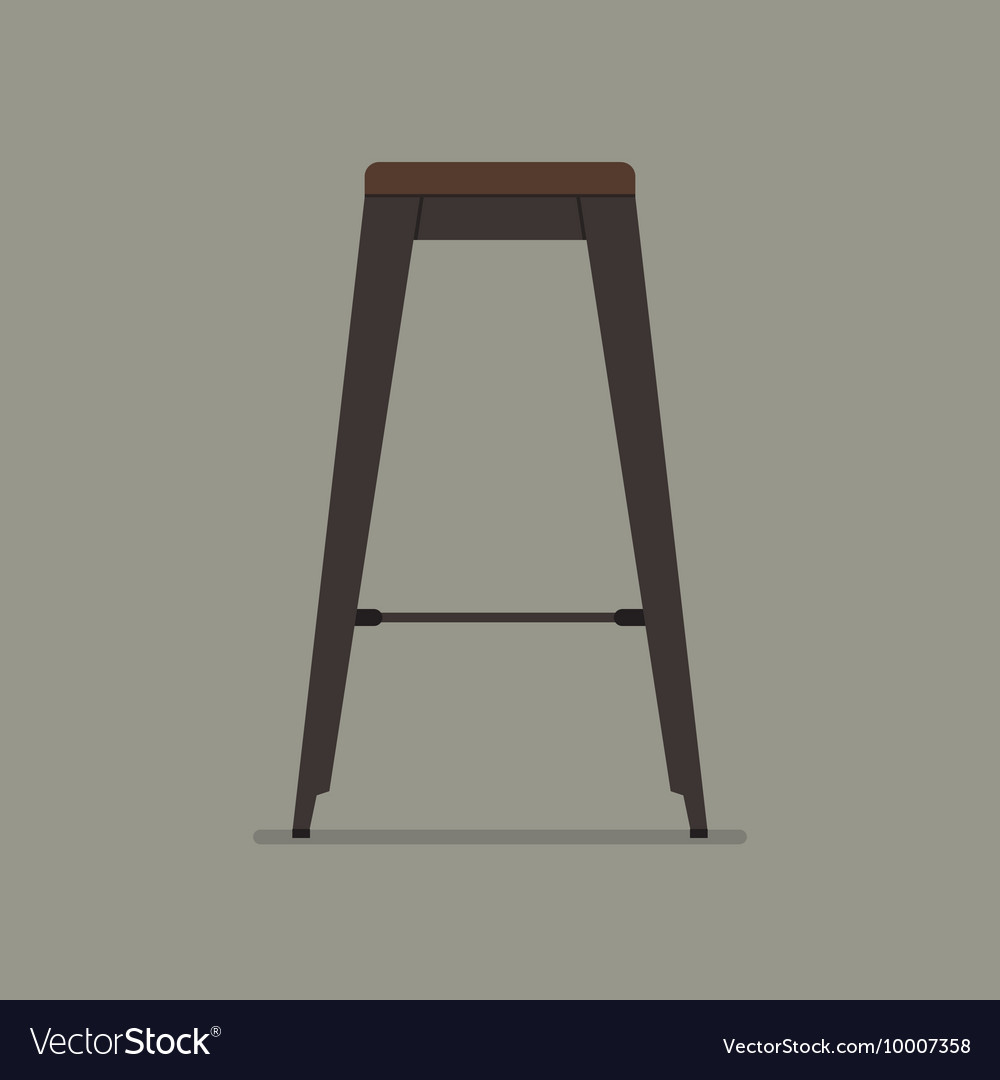 Industrial style steel stool vector