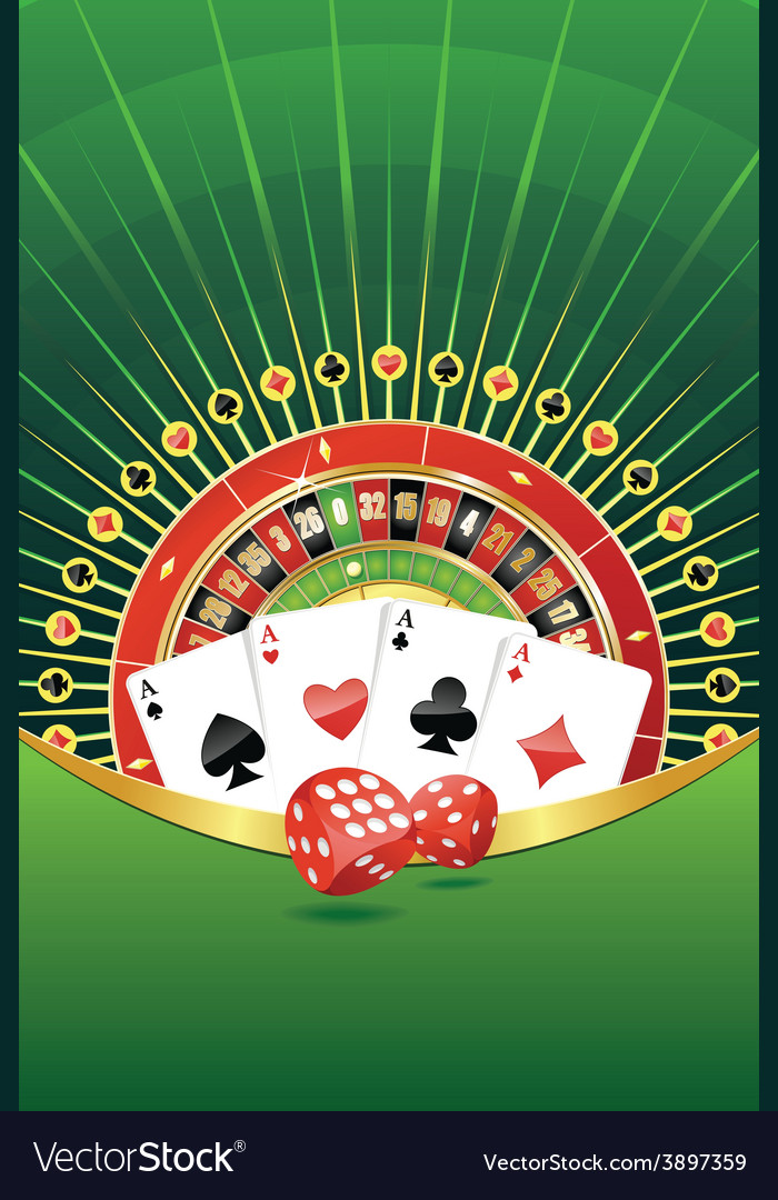 Abstract background with gambling elements vector