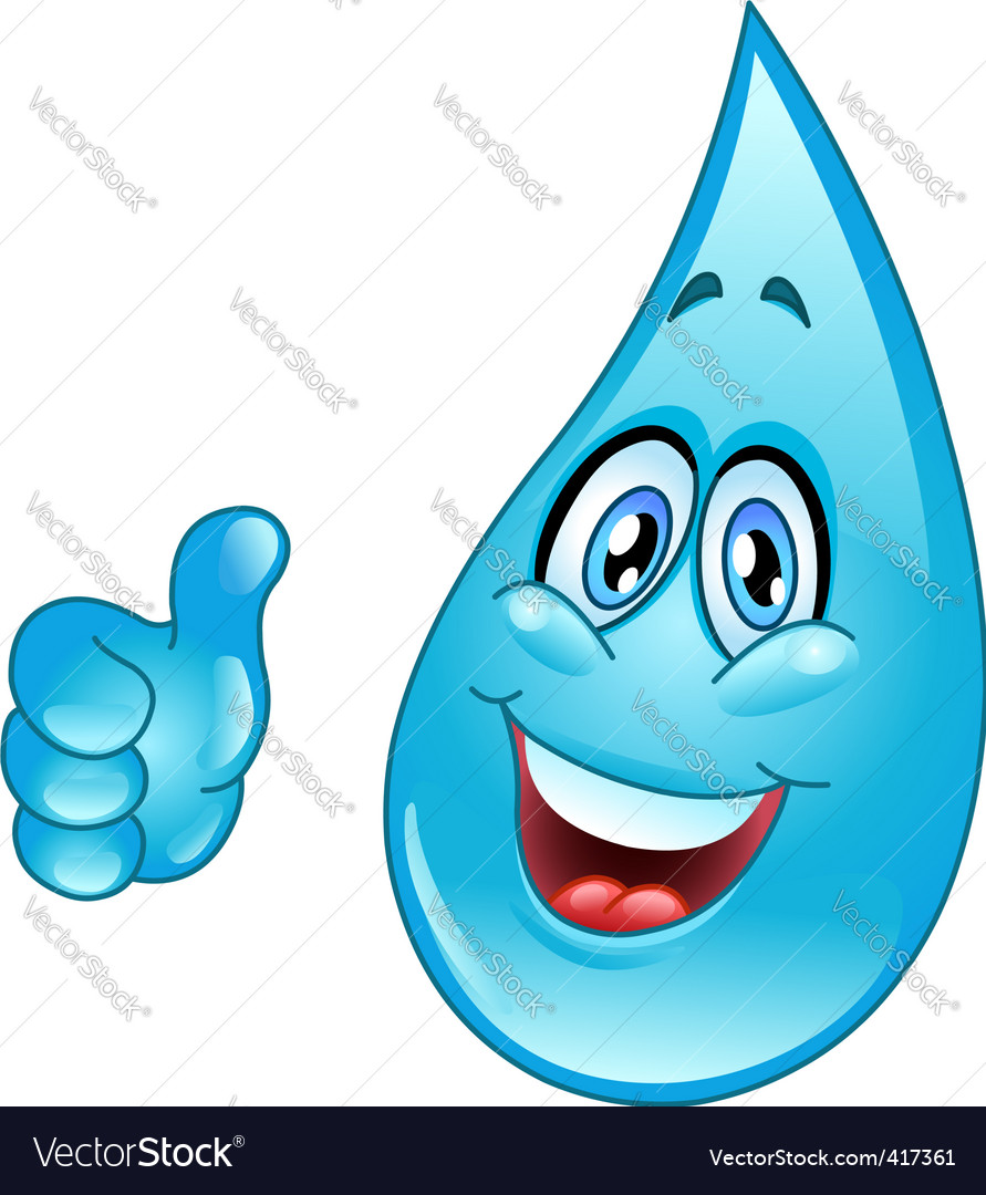 Water drop cartoon vector