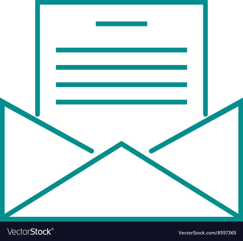 Letter mail icon message business send address vector