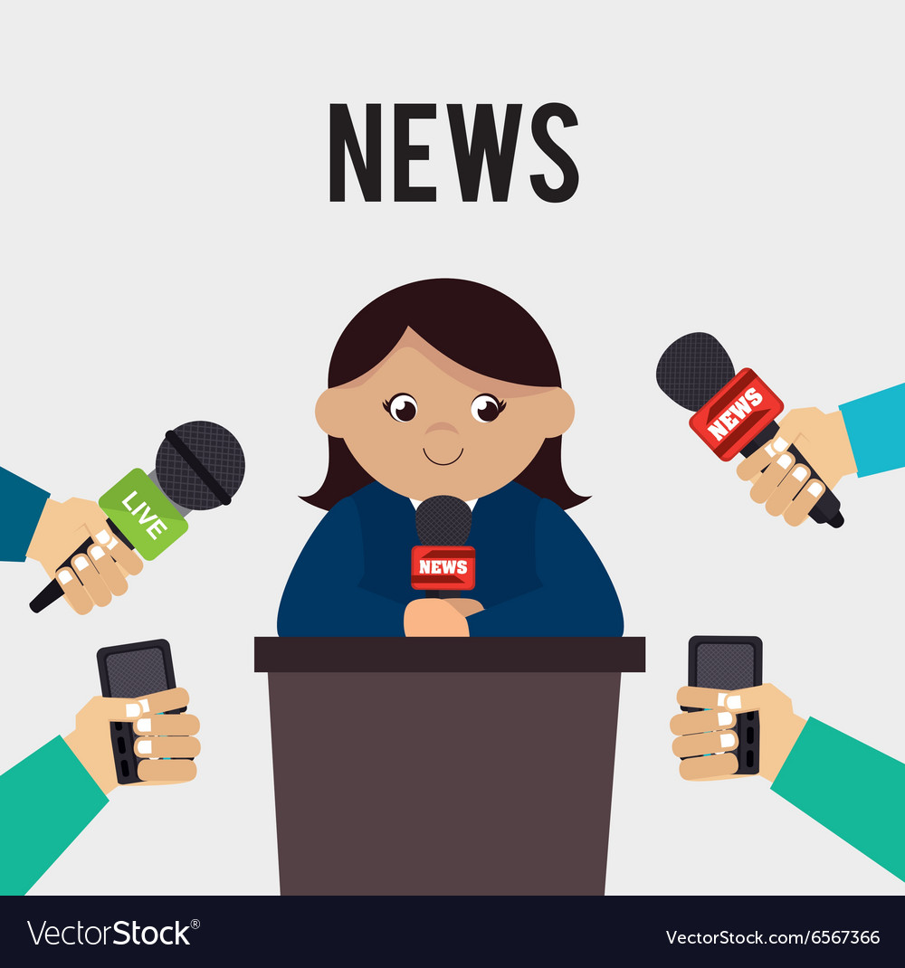 Mass media news graphic vector