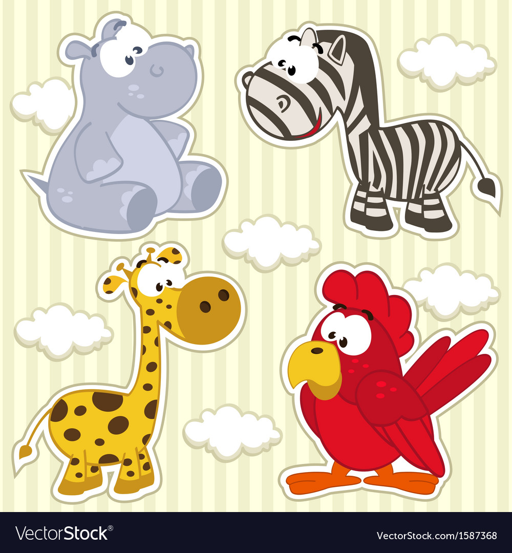 Icon set animal vector